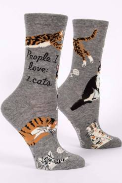 Blue Q - People I Love: Cats Socks