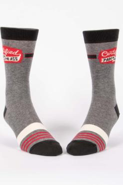 Blue Q - Certified Pain in the Ass Men's Crew Socks