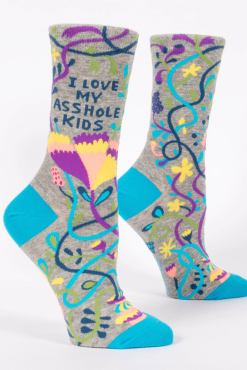 Blue Q - I Love My Asshole Kids Socks