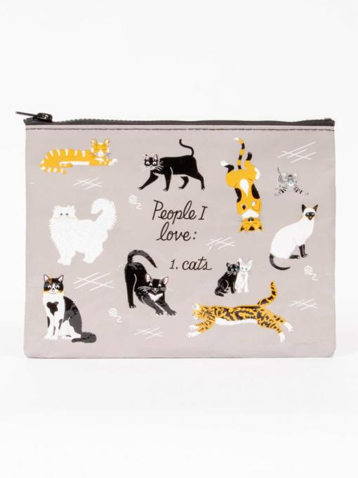 Blue Q - People I Love: Cats Zipper Pouch