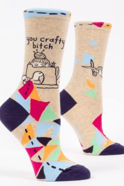 Blue Q - You Crafty Bitch Socks