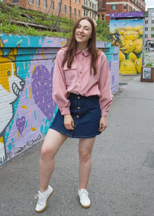 Noisy May - Dark Blue Denim Mini Skirt