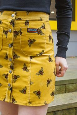 Run & Fly - Mustard Bee Corduroy Skirt