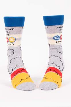 Blue Q - President of the Gas Co Men's Crew Socks