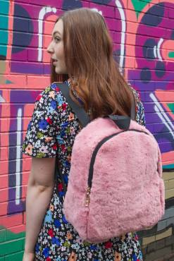 Thunder Egg - Pink Fluffy Backpack