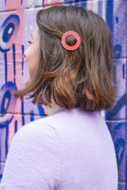Big Metal London - Iridescent Pink Ring Hair Clip