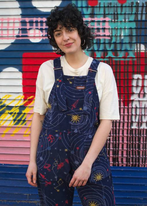 Run & Fly - Unisex Corduroy Solar System Dungarees