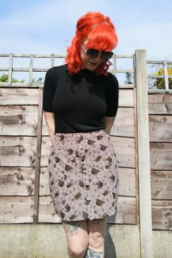Run & Fly - Sloth Corduroy Skirt