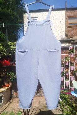 Thunder Egg - Pastel Blue Jersey Dungarees