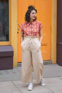 Noisy May - Be Green Beige Wide Leg Trousers