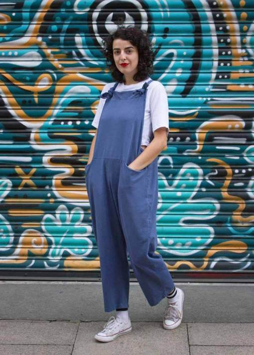 Thunder Egg - Washed Aegean Jersey Dungarees