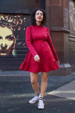 Glamorous - Red Frill Skater Dress