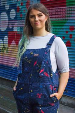 Run & Fly - Unisex Twill Solar System Dungarees