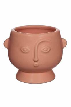 Sass & Belle - Small Matte Pink Face Planter