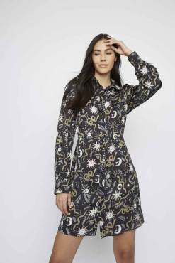 Glamorous - Black Sun & Moon Shirt Dress