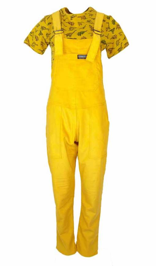 Run & Fly - Unisex Gold Yellow Corduroy Dungarees