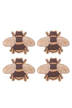 Sass & Belle - Set of 4 Wooden Bee Coasters