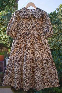 Thunder Egg - Leopard Print Smock Dress