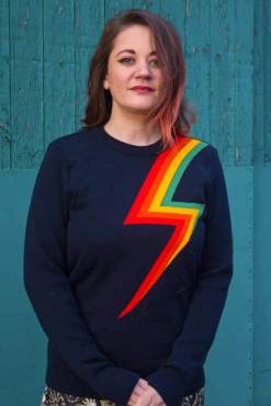 Run & Fly - Unisex Rainbow Lightning Bolt Jumper