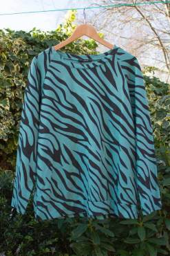 Thunder Egg - Turquoise Tiger Sweater