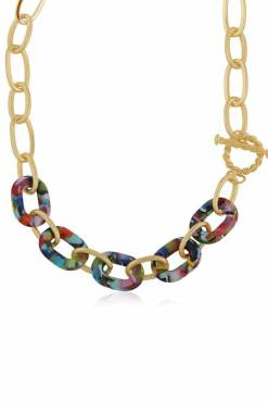 Big Metal London - Amy Matte Resin Chain Necklace