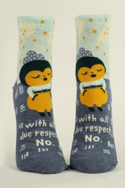 Blue Q - With All Due Respect Socks
