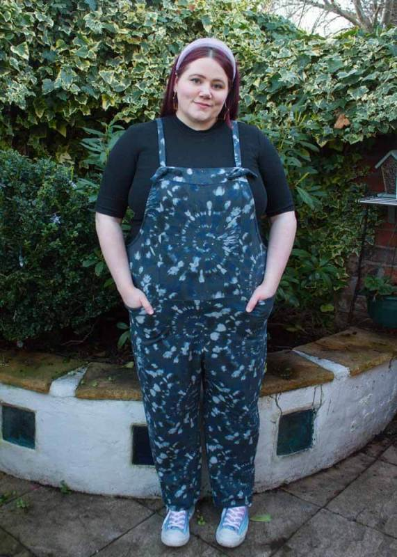 Thunder Egg - Charcoal Tie Dye Dungarees
