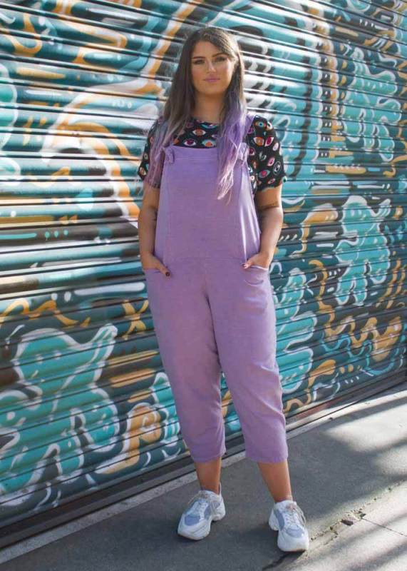 Thunder Egg - Lilac Jersey Dungarees