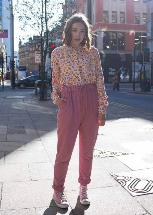 Thunder Egg - Pink Stretch Joggers