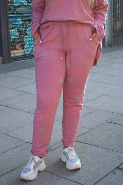 Thunder Egg - Pink Star Stretch Joggers