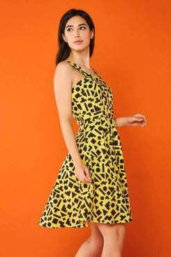 Minueto - Yellow Geo Valeria Dress