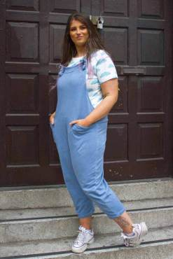 Thunder Egg - Sky Blue Jersey Dungarees