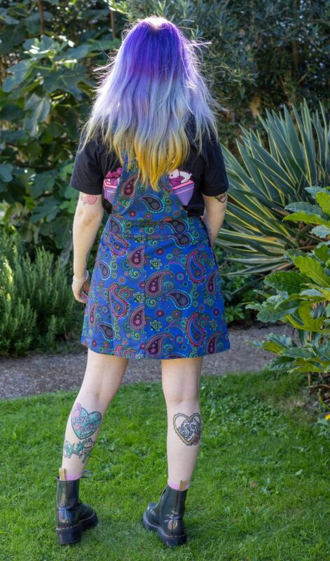 Run & Fly - Stretch Twill Paisley Pinafore