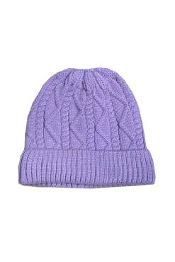 Thunder Egg - Lilac Cable Knit Beanie