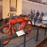 Immaculate Indian and Harley race bikes on display at Steel Ponies
