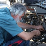 """SloJoe"" Joe Gardella wrenches on his '14 H-D"