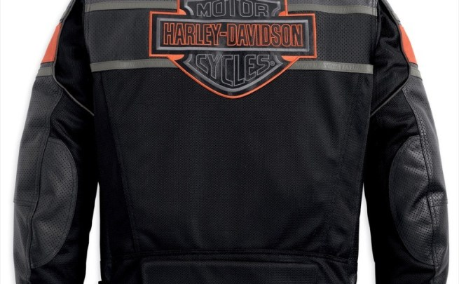Harley-Davidson Rumble Mesh w/ Leather Accents Jacket - back