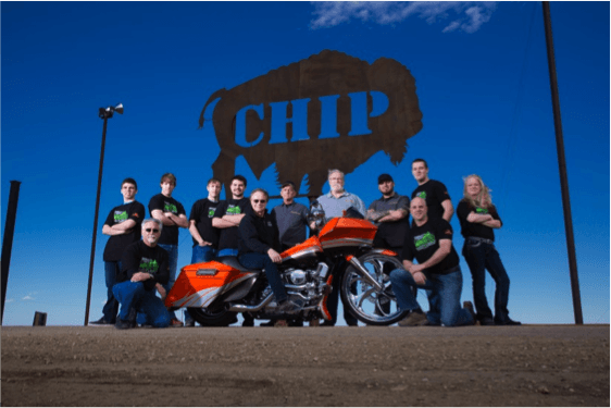 Sturgis Brown High School Student Build Challenge team and the Legends Ride raffle bike