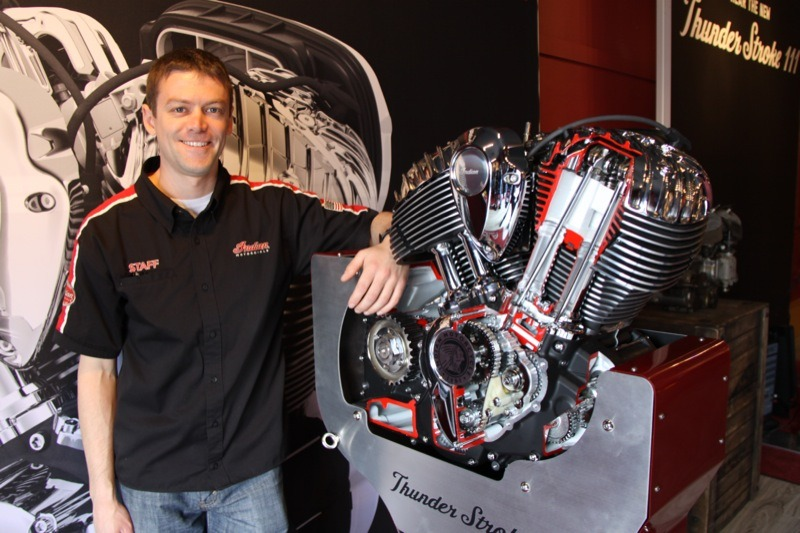 Lead designer and engineer behind Indian's new Thunder Stroke 111, Eric Fox