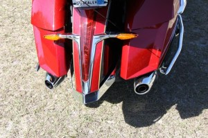 A second chrome rail guards the rear fender from bumps and scratches