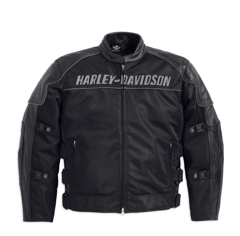 Harley-Davidson Men's Blackoak Jacket with Leather Trim (front)