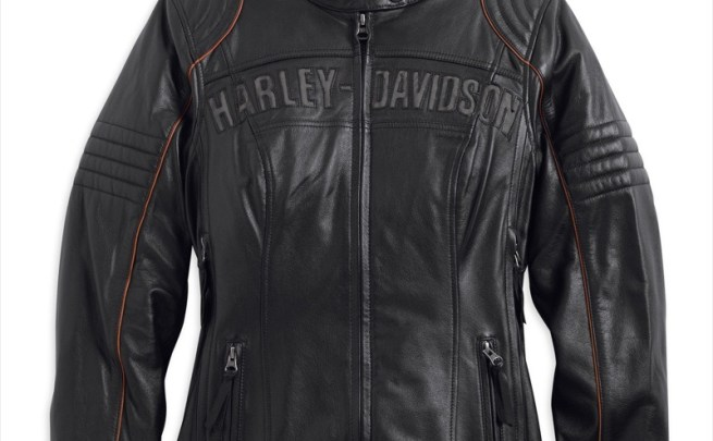 Harley-Davidson Eclipse Waterproof Leather Jacket with Triple Vent System (front)