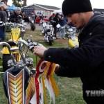 Co-promoter Tory Du Varney hands out awards for the bike show