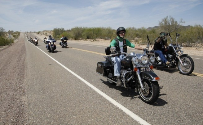Riders from across the country roll out for the wide open spaces and warmth of springtime in Arizona