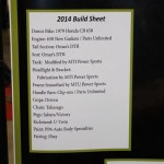 List of parts and donors for Mitchell's 2014 DSCCC build