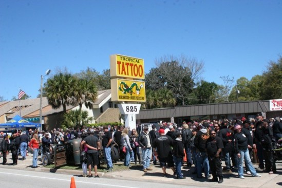 Willie's Tropical Tattoo Chopper Time Show in Ormond Beach, Florida