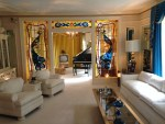 The living room in the Graceland mansion