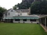 Backyard view of Graceland mansion