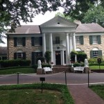 View of the front of the Graceland mansion