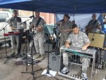 Soldiers perform on Lazelle
